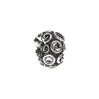Pandora Clear Spot et Swirl Charm 790330CZ