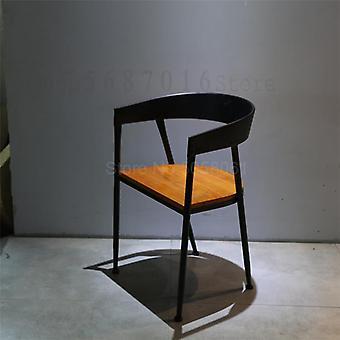 كرسي تناول الطعام الحديد، الصناعية الرياح الحليب الشاي حلوى الخبز متجر مقهى الخشب الصلب