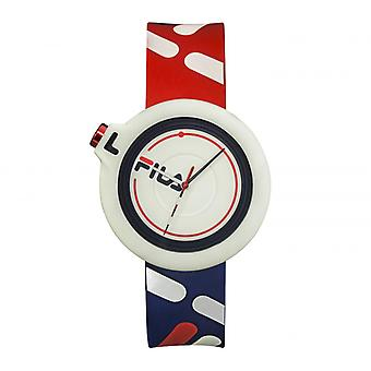 FILA 38-6081-003 Mixed Horloges - Rode Siliconen Armband