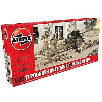 Airfix A06361 1:32 Maßstab 17 Pouder Anti-Tank Gun und Crew Modellkit