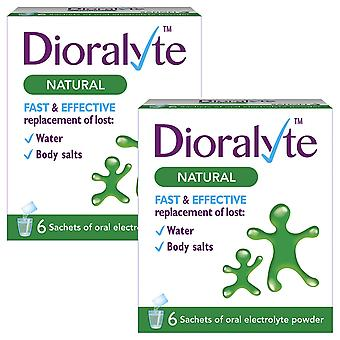 2pk Dioralyte Natural Fast& Effective Replacement of Lost Water&Body Salts,6 Sac