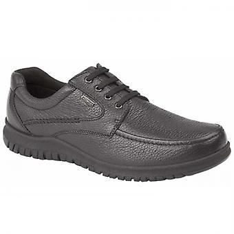 IMAC Lennie Mens Grain Leather Apron Shoes Black