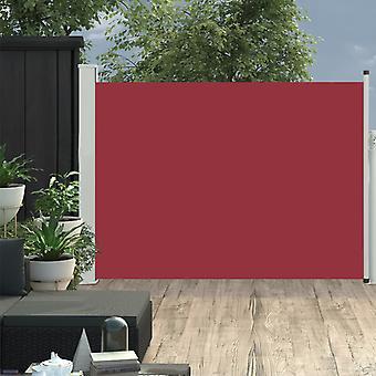 vidaXL 拡張可能な側面の日除け 100×500 cm 赤