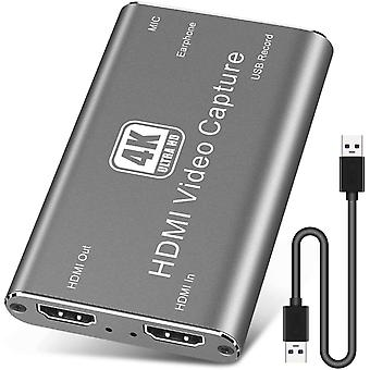 FengChun HDMI Aufnahmekarte, USB 3.0 4K Audio Videoaufnahmegert, HDMI USB HD Spielaufnahmekarte,