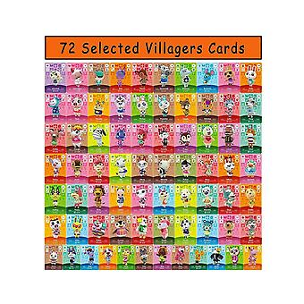 72 Pcs Animal Crossing For Mini Nfc Cards