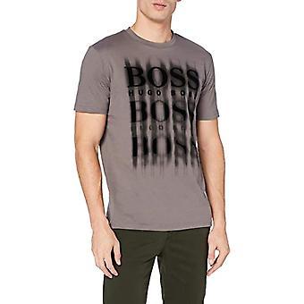 בוס Tblurry 4 חולצת טריקו, אפור כהה 22, M גברים של