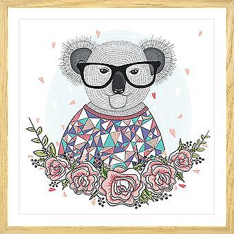 Koala hipster kind poster