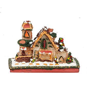 Dolls House Miniaturowe Śnieżne Pierniki Dom Boże Narodzenie Akcesoria Dekoracja akcesoriów