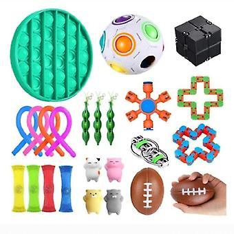 For 24pcs Pack Sensory Toy Set Antistress Relief Fidget Toys WS44753