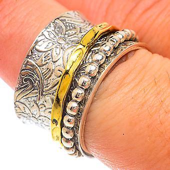 Meditation Spinner Ring Size 7.75 (925 Sterling Silver)  - Handmade Boho Vintage Jewelry RING66298