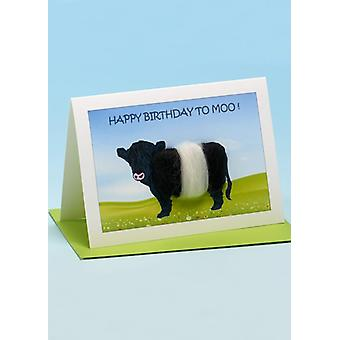 Hyvää syntymäpäivää Moo'n käsintehdylle lehmäkortille