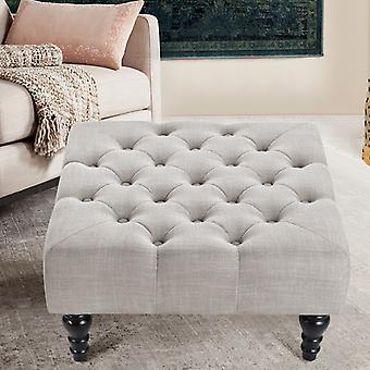 Chesterfield Buttoned Window Footstool