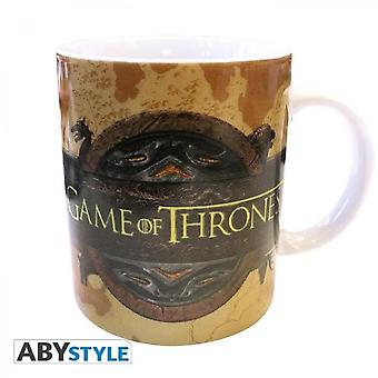 Games Of Thrones Mug - 320 Ml - Opening Logo - Porcelain With Box - Abystyle