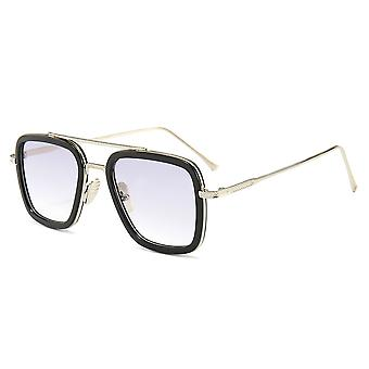 Óculos de sol retângulos para mulheres homens proteção UV