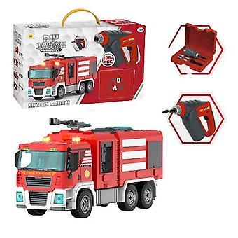 Children's detachable electric fire truck