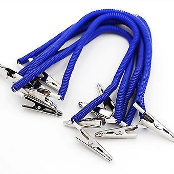 10 Pcs-dental Scarf Clip Napkin Holders Spring Rope