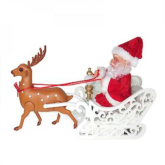 Evago Elk Pulling Car Riding Deer Electric Christmas Gifts Santa Claus Children's Toys Holiday Xmas Decorations