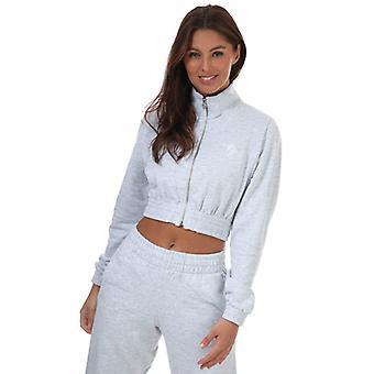 Women's Gym King Cropped Funnel Neck Sweatshirt in Grey