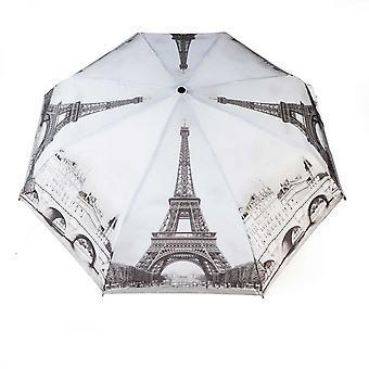 Paraply automatiskt Pocket paraply motiv Paris svart och vitt