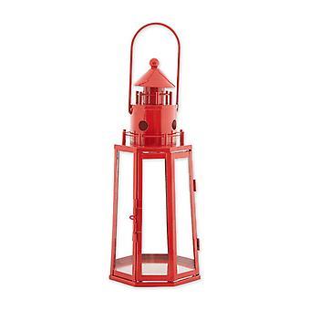 Galerie von Light Metal Leuchtturm Kerzenlaterne - Rot, Packung von 1