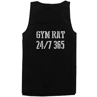 Gym Rat 24/7 365 Back Print Men's Workout Tank Top Sleeveless Sports Tanks