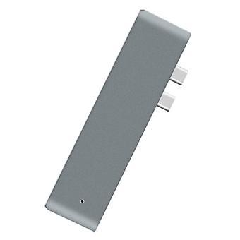 סוג C USB 3.1 למתאם USB-C HDMI 7 ב- 1 מפצל רכזת עבור MacBook (אפור)