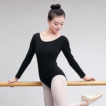 Балет Танцевальная одежда с коротким рукавом Боди Платье