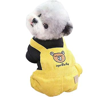 Winter Dog Hoodie Sweaters With Pockets Warm Dog Clothes For Small Dogs