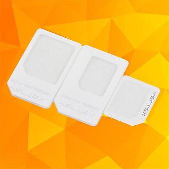 3 adaptateurs pour nano sim micro standard carte support de plateau d'adaptateur pour iphone 5