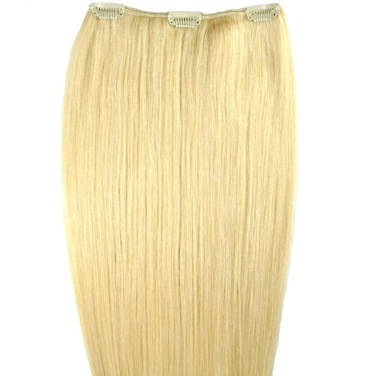 #60/22 - Clip-in Hair Piece - Natural Blonde with Barbie Blonde Highlights