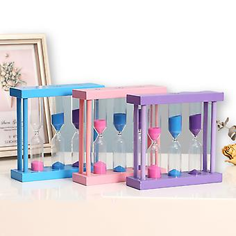 One Piece Wooden Hourglass Toy Children's Gift Hourglass Timer 5/10/15 Minutes