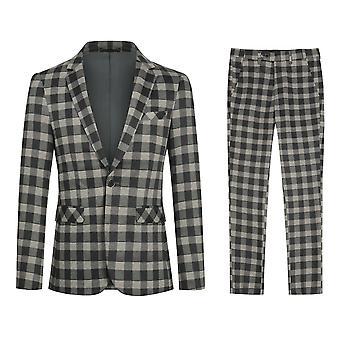 Yunyun Homme 2 Pièces Slim Fit Costume Set Élégant Blazer Et Pantalon