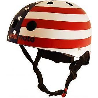 Kiddimoto capacete - bandeira EUA