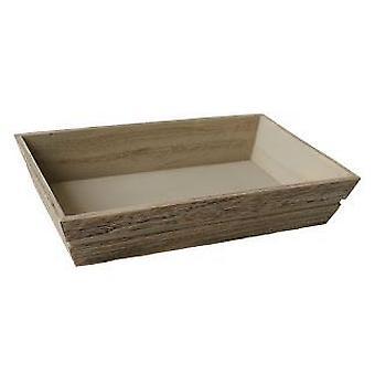 Liten trä förpackning bricka