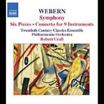 A. Webern - Webern: Symphony; Six Pieces; Concerto for 9 Instruments [CD] USA import