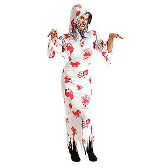 Spook kostuum met bloed geesten jurk kostuum dames