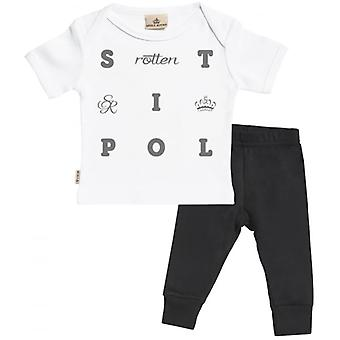 Verwend rotte S tekst Baby T-Shirt & Baby Jersey broek Outfit Set