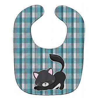BB6881BIB сокровища Каролинских маленькие черные кошки котенок ребенок нагрудник