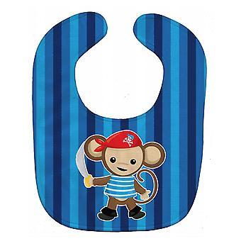 Каролинских сокровища BB8977BIB Пиратская обезьяна Blue Baby Bib