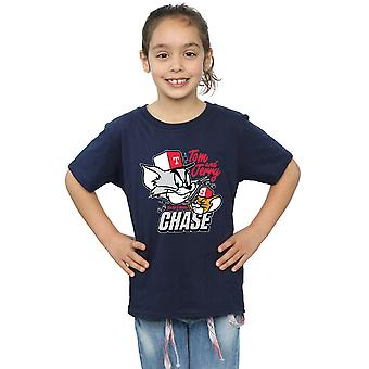 Tom And Jerry Girls Cat & Mouse Chase T-Shirt