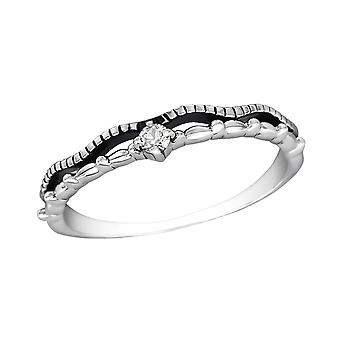 Stackable - 925 Sterling Silver Jewelled Rings - W30162X