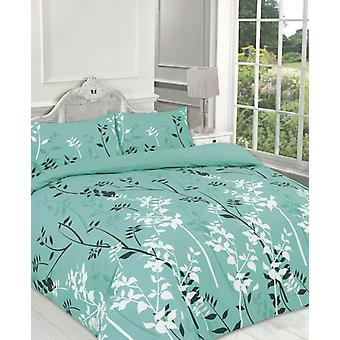 kaylee Floral Duvet Quilt Cover Polycotton Printed Bedding Set All Sizes