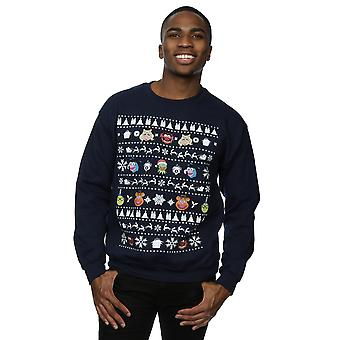 Disney Men's The Muppets Christmas Heads Sweatshirt
