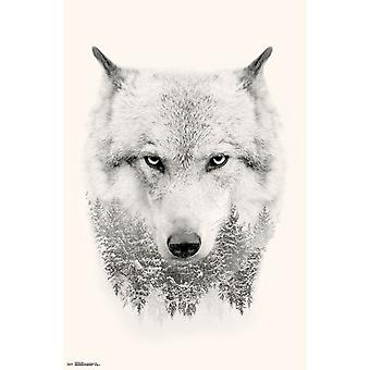 Wolf - impression Poster les arbres