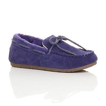 Ajvani Womens faux Schaffell Fell flexible Sohle Boot Schuhe Mokassins Hausschuhe