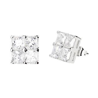 Sterling 925 Silver earrings - CUBE 10 mm