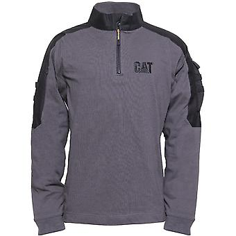 CAT Workwear Mens Tactical Quarter Zip Multi Pocket Work Sweatshirt