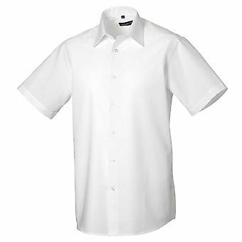 Russell collectie korte mouw Easycare afgestemd Oxford Shirt