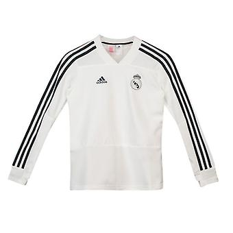 2018-2019 real Madrid Adidas Training Top (wit) - Kids