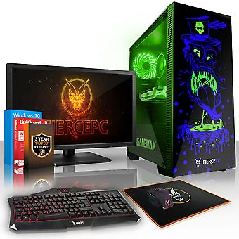 Felle GOBBLER Gaming PC, snelle Intel Core i5 7400 3.5 GHz, 2 TB HDD, 16 GB RAM, RTX 2080 8 GB